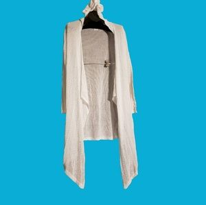 SHIMERA White Knitted Cover Up